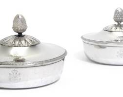 5. a pair of italiansilver vegetable dishes and covers, luigi vernazzi, parma, circa 1810 |