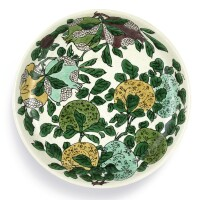 3311. a fine biscuit-enamelled sancai dish mark and period of kangxi |