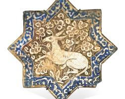 8. a kashan lustre pottery star tile, persia, circa 1300