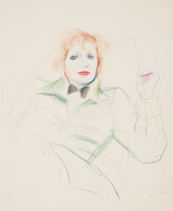 david-hockney-celia-with-bow-tie