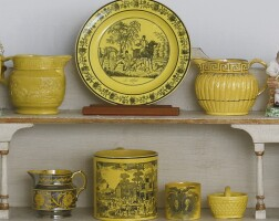 758. a group of english yellowware 19th century