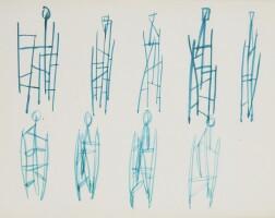 541. robert adams | untitled sketches for figurative sculptures