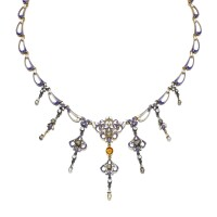 27. enamel and gem set necklace, carlo & arthur giuliano, late 19th century