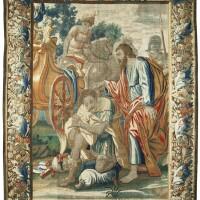 1043. a flemish biblical new testamenttapestry, brussels, workshopof jan permentiers (1655-1680), after nicholaas marten fierlants, second half 17th century