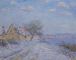 104. gustave loiseau | tournedos-sur-seine, neige, givre, soleil