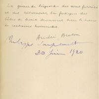 186. Breton, André -- Philippe Soupault