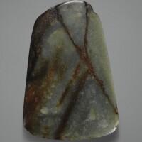 46. lame en jade vert période néolithique, ca. 3000-2000 avant j.-c.