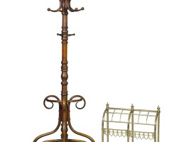 2. a victorian brass and cast iron stick stand, late 19th century |