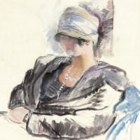 429. henri lebasque | jeune femme au chapeau cloche