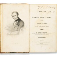 7. travels in england, france, spain, and the barbary states, in the years 1813-14 and 15,mordecai m. noah, new york: kirk and mercein, 1819