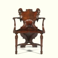 3. a george ii style carved mahogany hall chair attributed to sidney letts circa 1910