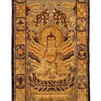 3631. 清十九世紀 絲織金線佛像掛毯 《乾清宮御用》款 |