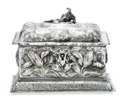 247. a german rectangular silver box, leipzig,1689-1691   a german rectangular silver box, leipzig,1689-1691