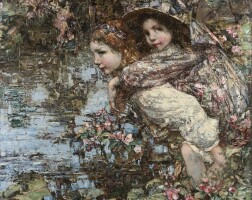 11. edward atkinson hornel | by the lily pond