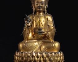 308. a large gilt-bronze figure of avalokiteshvara ming dynasty, 16th / 17th century |