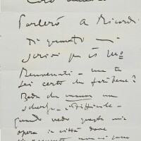 205. puccini, giacomo. autograph letter signed, to the painter amedeo lori