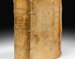 112. montaigne. la théologie naturelle de raymond sebon. paris, g. chaudière, 1569. vélin souple de l'époque.