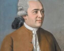 347. english school, 18th century | portrait of a gentleman in a reddish-brown coat