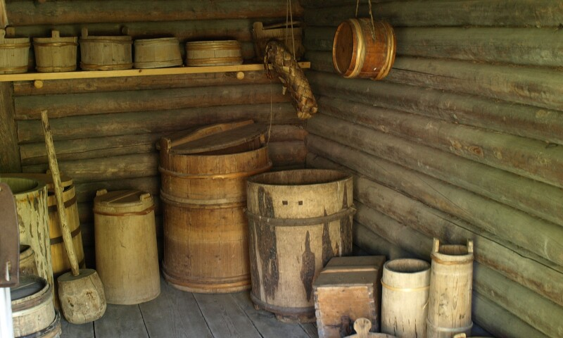 Interior view of the Estonian Open Air Museum in Tallinn.