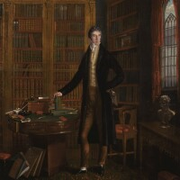 35. maria spilsbury taylor   portrait of henry grattan mp, in a library