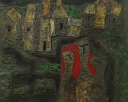 35. piraji sagara | untitled (kashmir landscape with three figures)