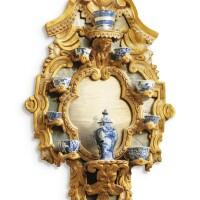 1. an italian carved giltwood and mirror bracket shelf, tuscany or liguria, mid-18th century |
