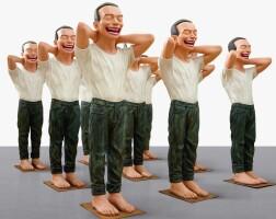 1110. yue minjun | contemporary terracotta warriors - 2 (nine works)