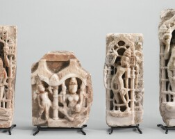 1307. four marble jain fragments western india, rajasthan, 10th/11th century