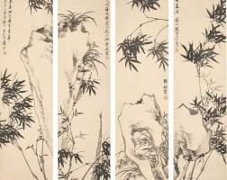 2505. shi zhenran | ink orchids, bamboos and rocks