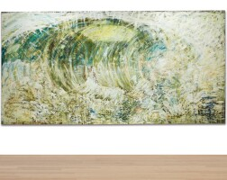 538. pat steir | wave after courbet (eye of the storm)