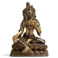 3505. 十五世紀 藏傳紫檀描金烈焰度母坐像 |