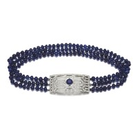 4. sapphire and diamond necklace, retailed by cartier