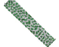 1663. 天然翡翠配鑽石手鏈