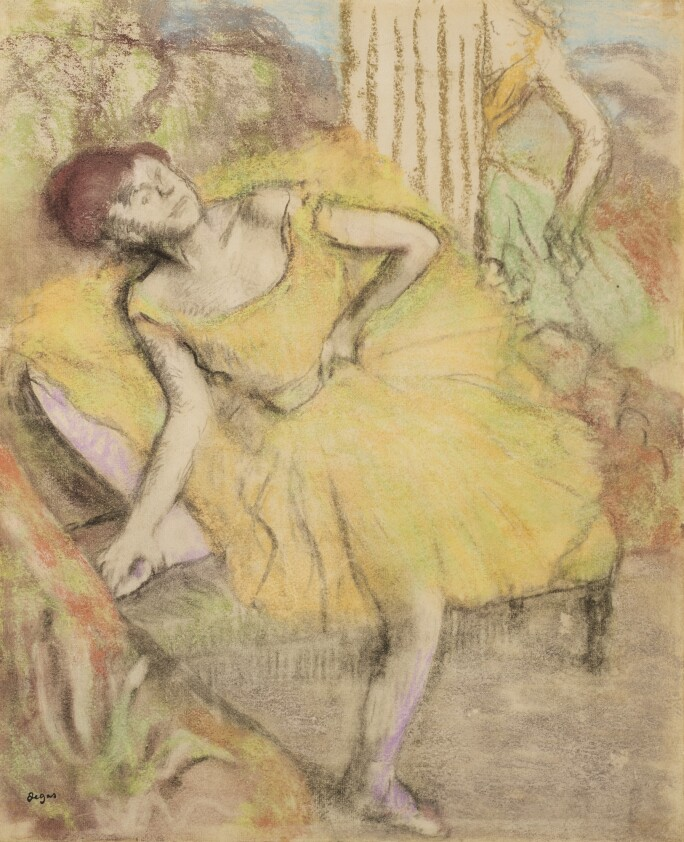 Lot 139, Edgar Degas, Danseuse au repos, counterproof with pastel on paper, circa 1897-1900, Impressionist & Modern Art Day Sale November 13th, 2018, estimate $ 500,000-700,000 .jpg