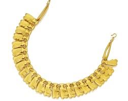 12. 18 karat gold necklace, egypt