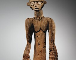 68. statue commémorative du fon tchatchuang, royaume de batoufam, bamiléké, cameroun
