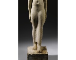 9. a fragmentary egyptian limestone figure of the priestess tagerem, ptolemaic period, reign of ptolemy i/ptolemy ii, 304-256 b.c.