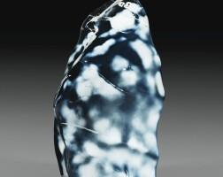 10. grand bloc d'agate bleue, probablement madagascar