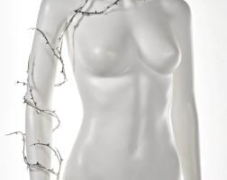 7. silver thorn arm-vine and earring, shaun leane