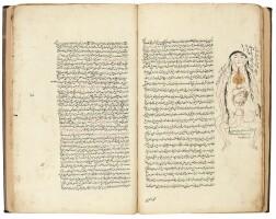 36. abu 'ali al-husayn ibn 'abdullah ibn al-hasan ibn 'ali ibn sina, known as avicenna (d.1037 ad), kitab qanun fi'l tibb ('the canon of medicine'), sections i and ii from volume i, copied by majid al-kashani, persia, safavid, 17th century and later  