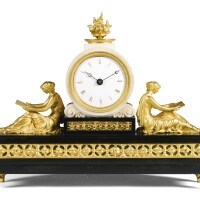 3. an ormolu and black and white marble mantel timepiece, thomas weeks, london, circa 1820 |