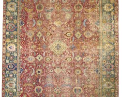 16. a central persian gallery carpet, probably isphahan