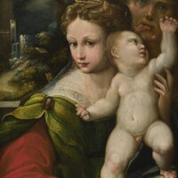 113. school of parma, 16th century | the holy family