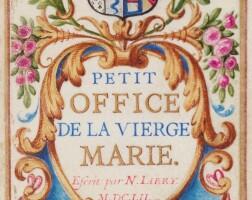 131. jarry, nicolas. prières dévotes.1652. manuscrit sur vélin. rel. attribuable à le gascon. ex. d'anne de rohan.