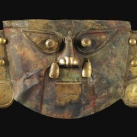 5. large sicán painted gold mask, ca. a.d. 950-1250