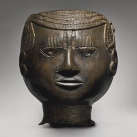 12. edo brass head representing a ruler, benin kingdom, circa15th - 16th century,nigeria