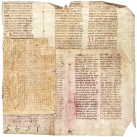 43. three fragments from liturgical manuscripts, in latin [germany, 13th-15th centuries]