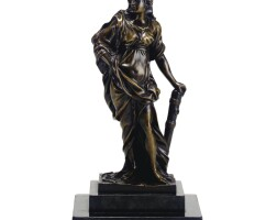 13. a bronze figure of omphale french, probably circa 1700