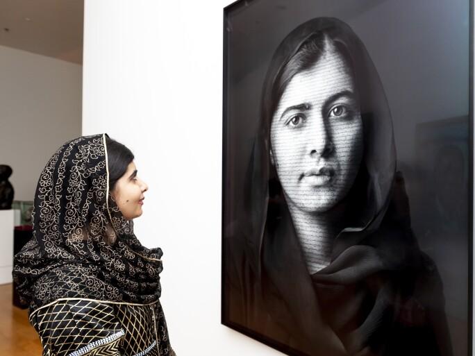 Malala Yousafzai Portrait Unveiling