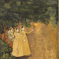 212. ladies playing with fireworks, school of mir kalan khan, lucknow, circa 1780